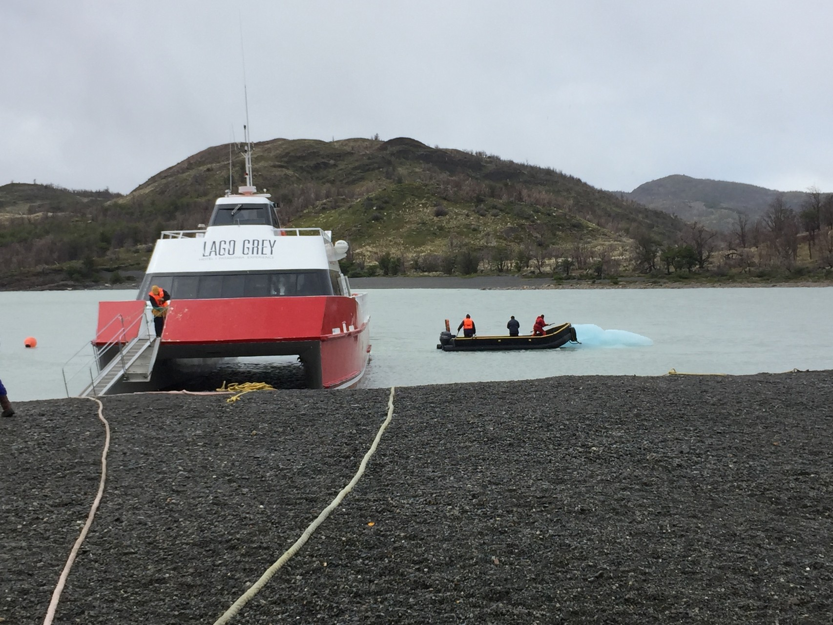 Schiff zum Glacier Grey