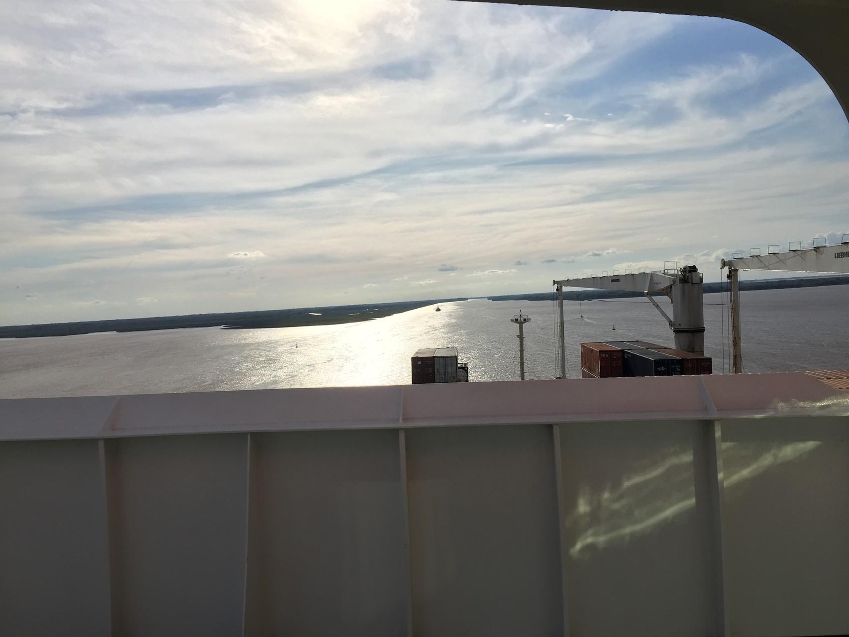 Die Mündung des Rio Parana