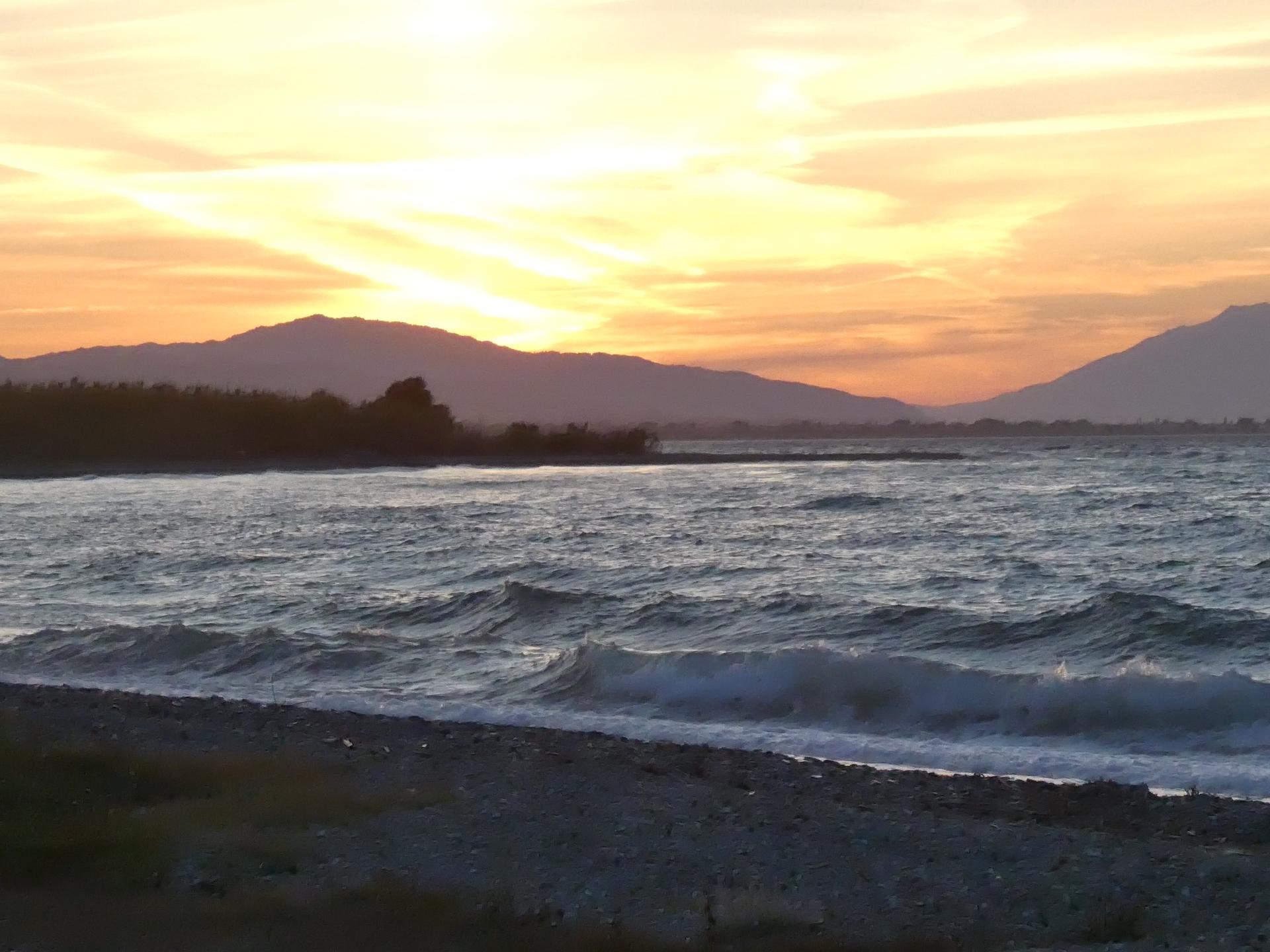 ... mit einem tollen Sonnenuntergang