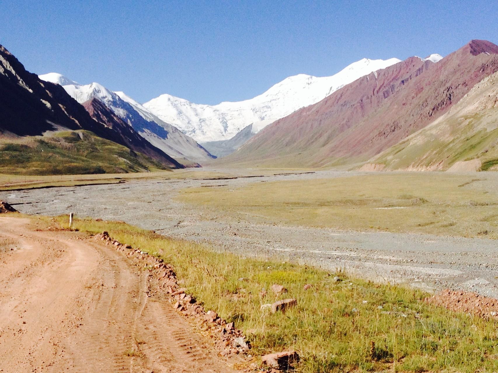 Nach der Grenze in Tadschikistan