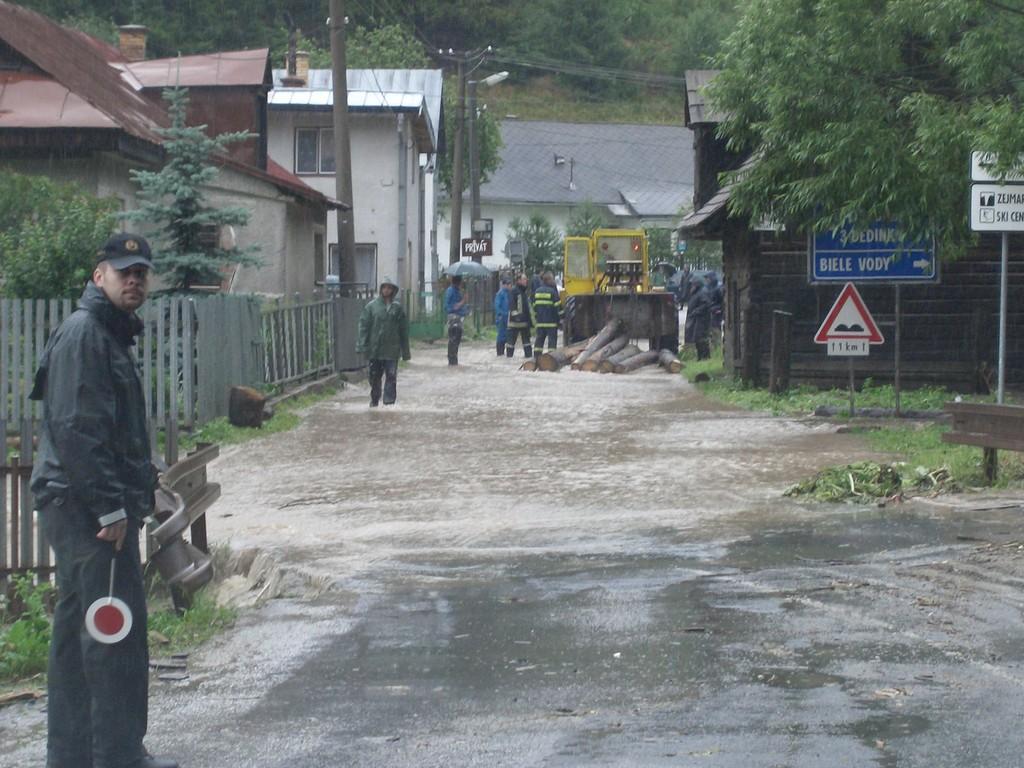 Nach tagelangen Niederschlägen in der Nähe von Dobsina