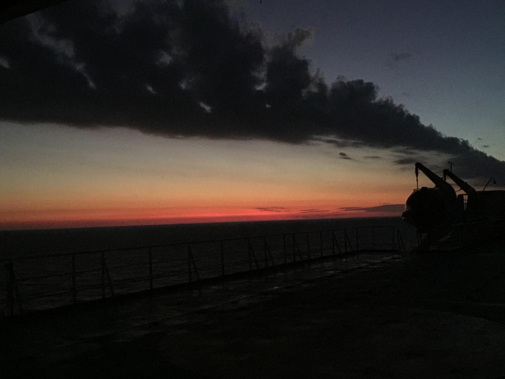 Sonnenaufgang auf dem Rio de la Plata