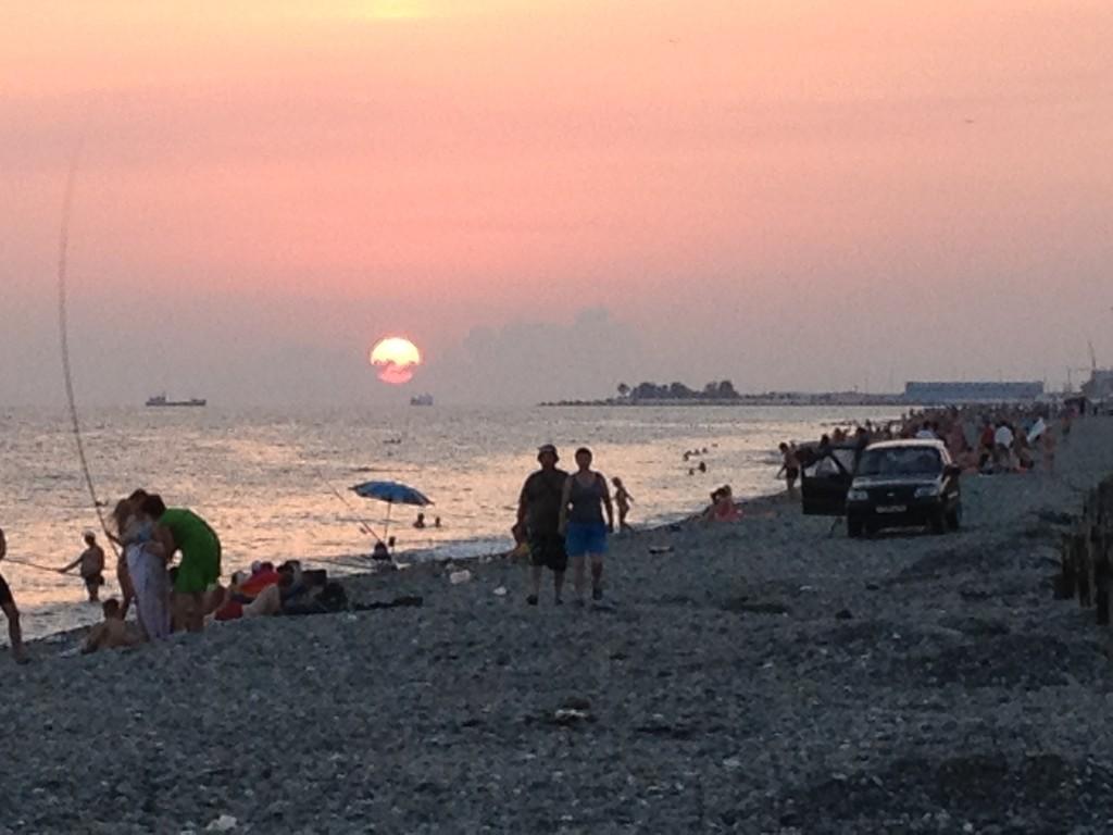 Strand bei Sochi