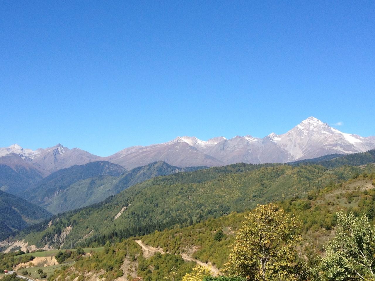 Blick auf die 4000 und 5000er Berge