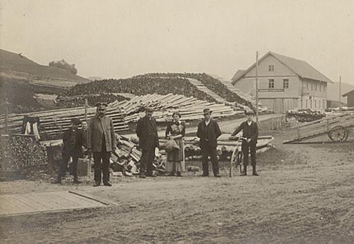 Betriebsgelände Sägwerk beim Bahnhof in Nesselwang, Erbaut von Josef Anton Möst
