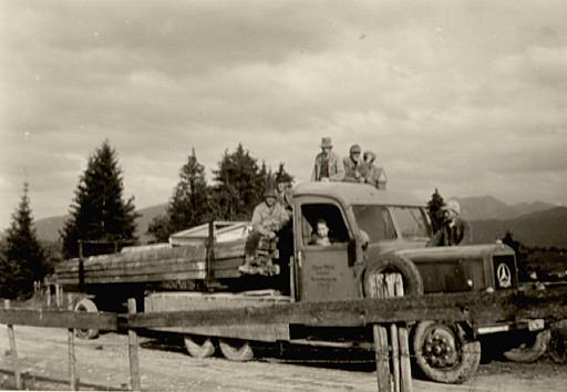 alter LKW, Mai 1952