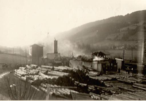 Sägwerksbrand 13.XI.1953