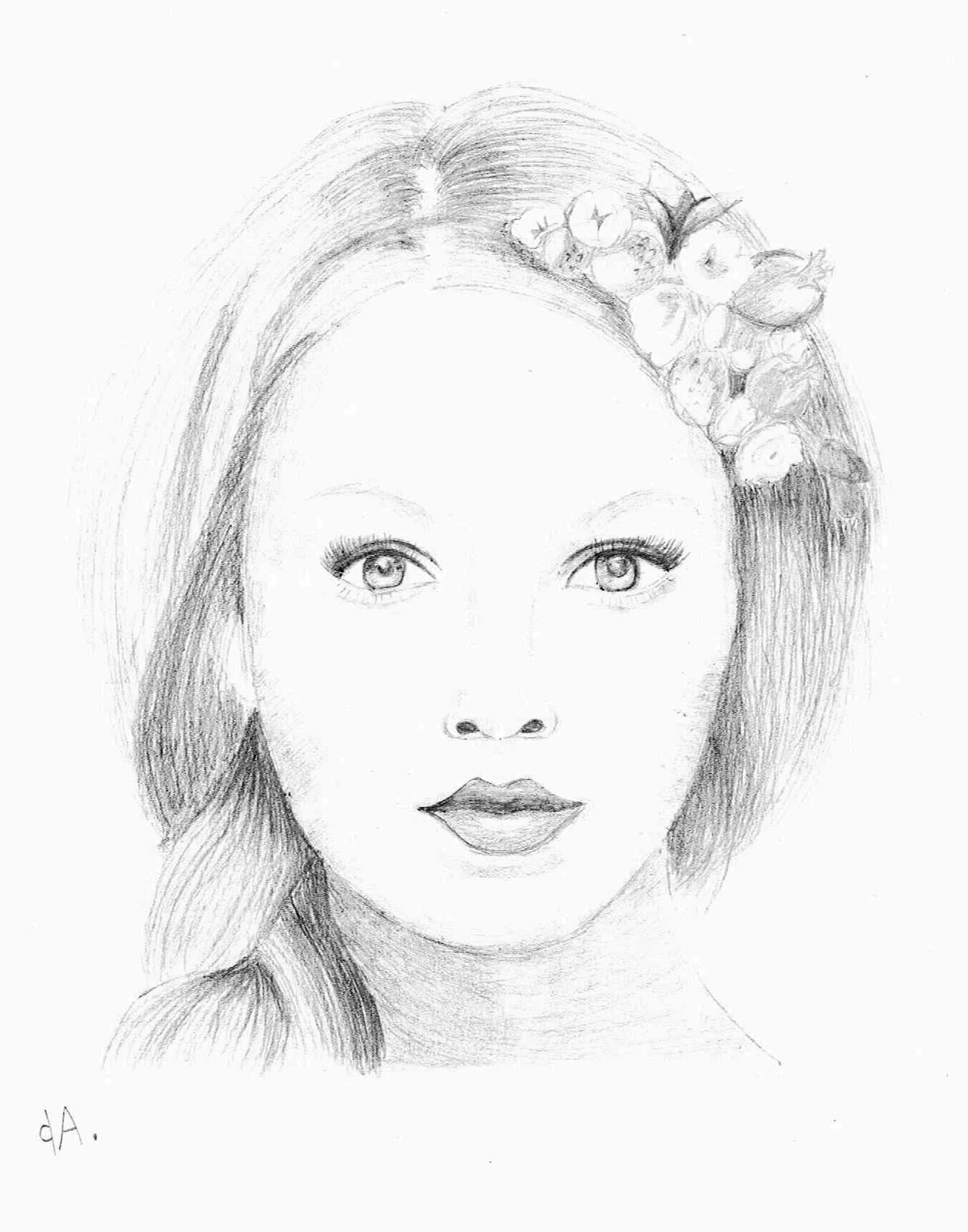 dessin au crayon par Amélie