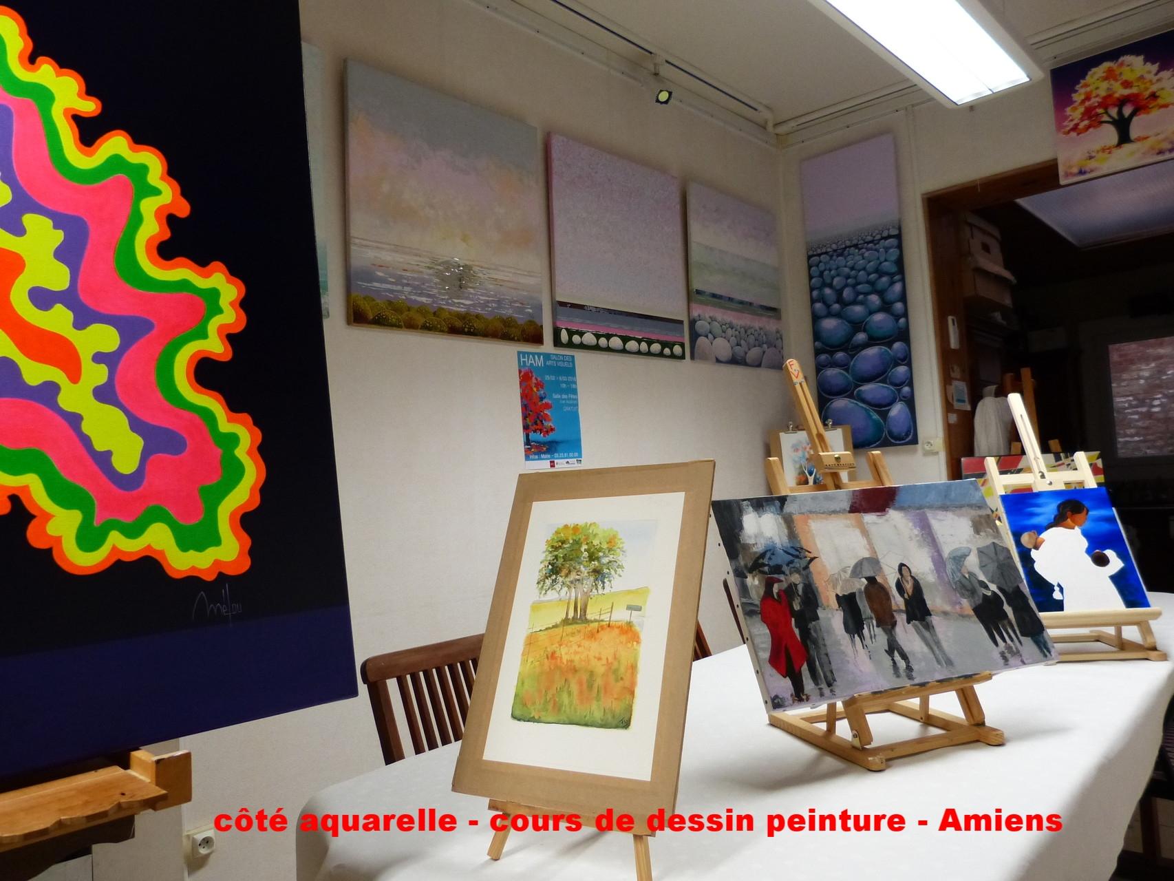 accueil - coté aquarelle cours de dessin et peinture à amiens