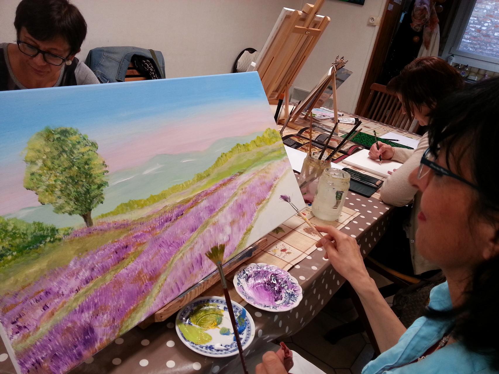 peinture acrylique par Nadia