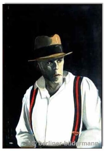 """""""Joseph Beuys""""/ 1889/ Öl auf Hartfaserplatte"""