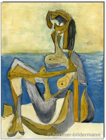 """Picasso""/ 1983/ Tempera auf Malpappe"