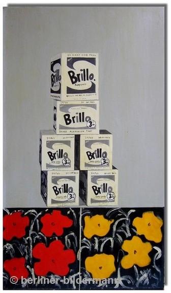 """""""Brillo Boxes""""- rechte Tafel/ 1987/ Öl auf Leinwand"""