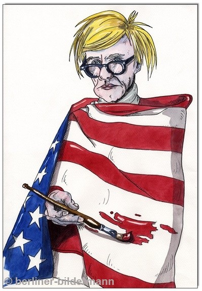 """""""ANDY WARHOL- STARS AND STRIPES"""" / 1991"""
