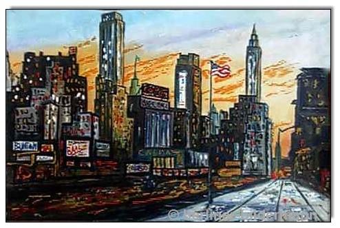 """""""New York""""/ 1987/ Öl auf Leinwand"""