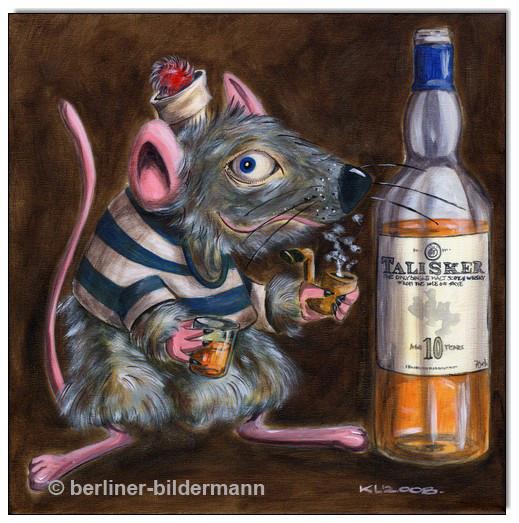 """""""EMIL: Whiskey Mouse I""""/ Acryl auf Leinwand/ 2008"""