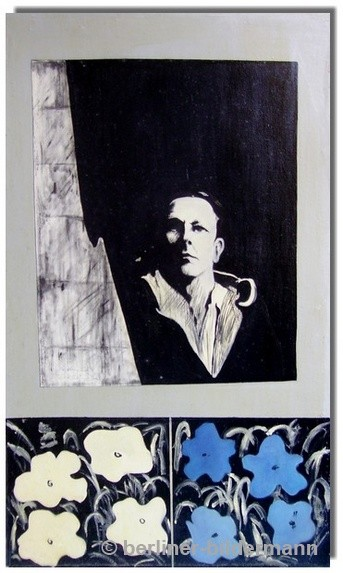 """""""Robert Rauschenberg""""- linke Tafel/ 1987/ Öl auf Leinwand"""