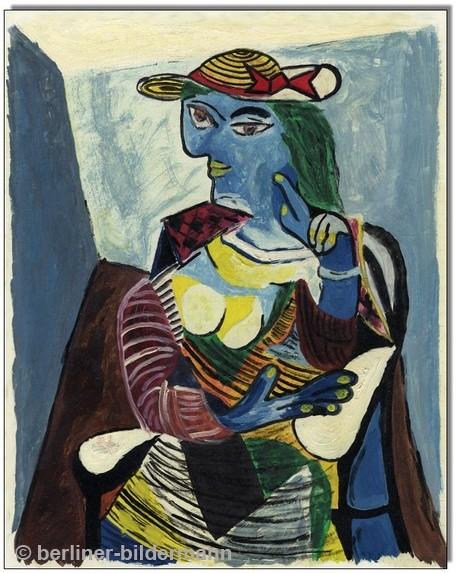 """""""Picasso""""/ 1983/ Tempera auf Hartfaserplatte"""