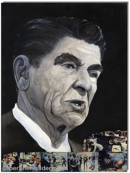 """Reagan shot!""/ 1988/ Öl auf Leinwand"