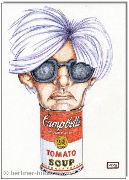 """ANDY WARHOL in a Campbells can""/2008"