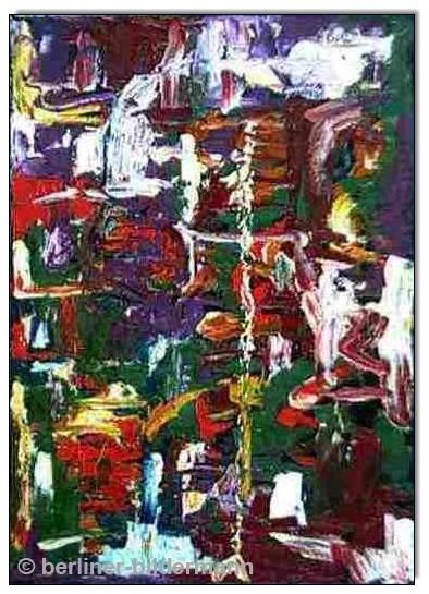 """""""Abstrakt""""/ 1988/ Öl auf Leinwand"""