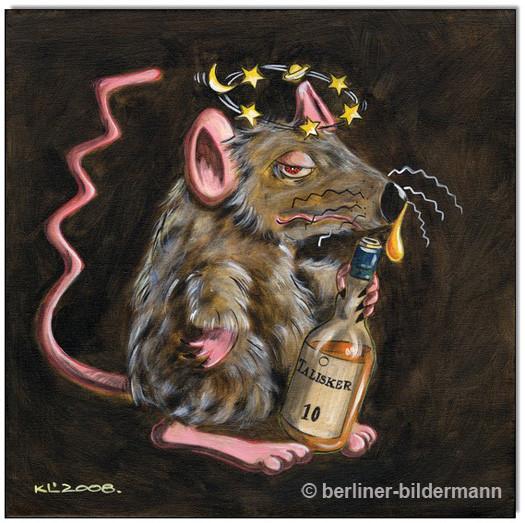 """""""EMIL: Whiskey Mouse II""""/ Acryl auf Leinwand/ 2008"""