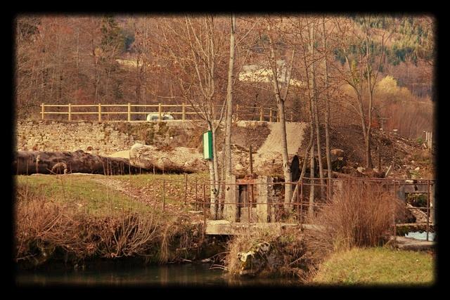 vu de la station de pompage depuis le petit étang