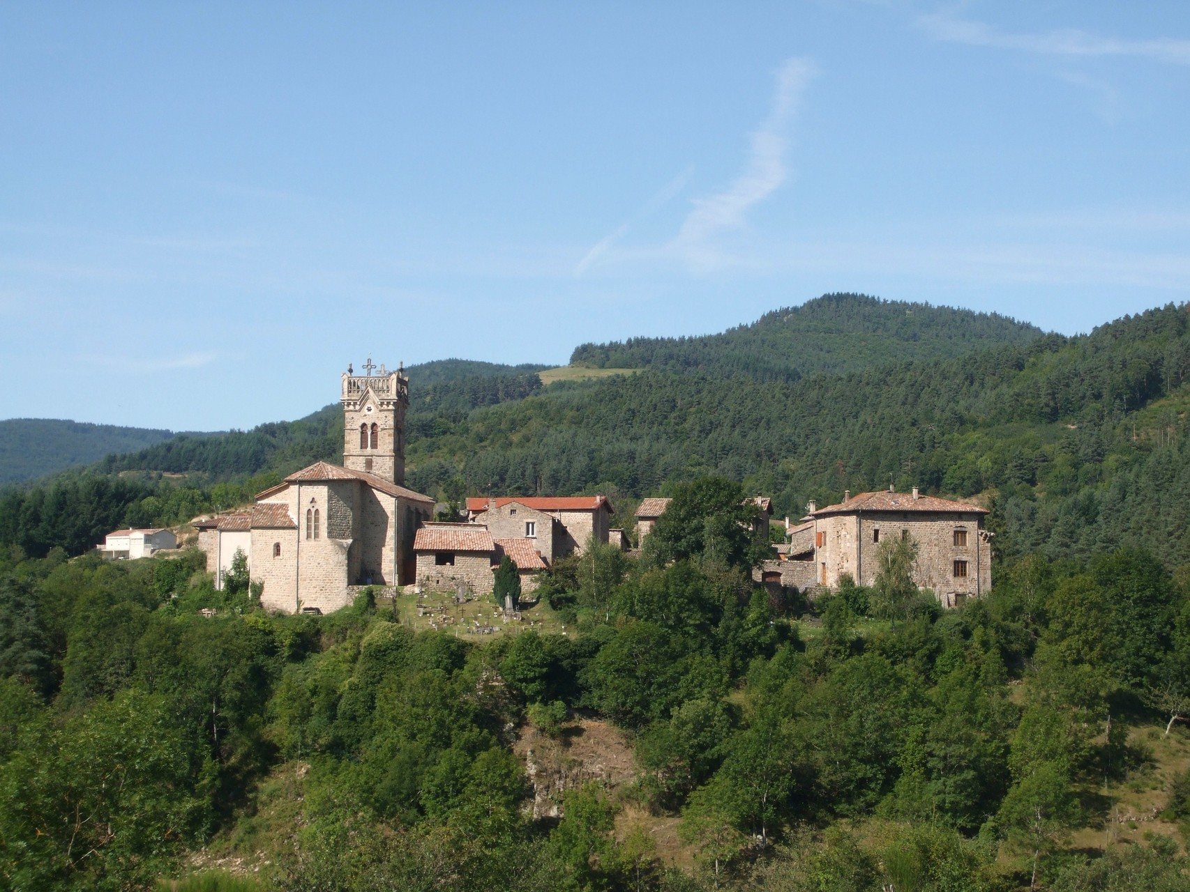 Vue du village de Labatie d'Andaure