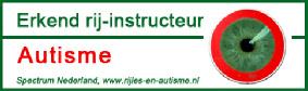 Door het volgen van de volledige opleiding en de jaarlijks terugkerende intervisie dagen is het toegestaan het logo van www.rijles-en-autisme.nl te gebruiken.   Op deze site site kunt u zien of een autorijschool daadwerkelijk erkend is of niet.
