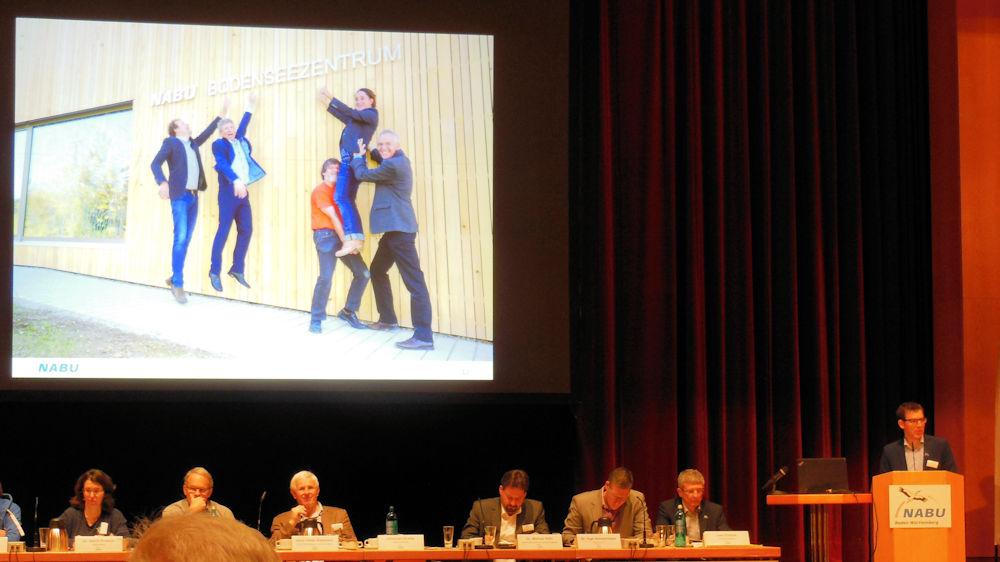 Johannes Enssle und der Vorstand NABU BW, Foto F. Handel