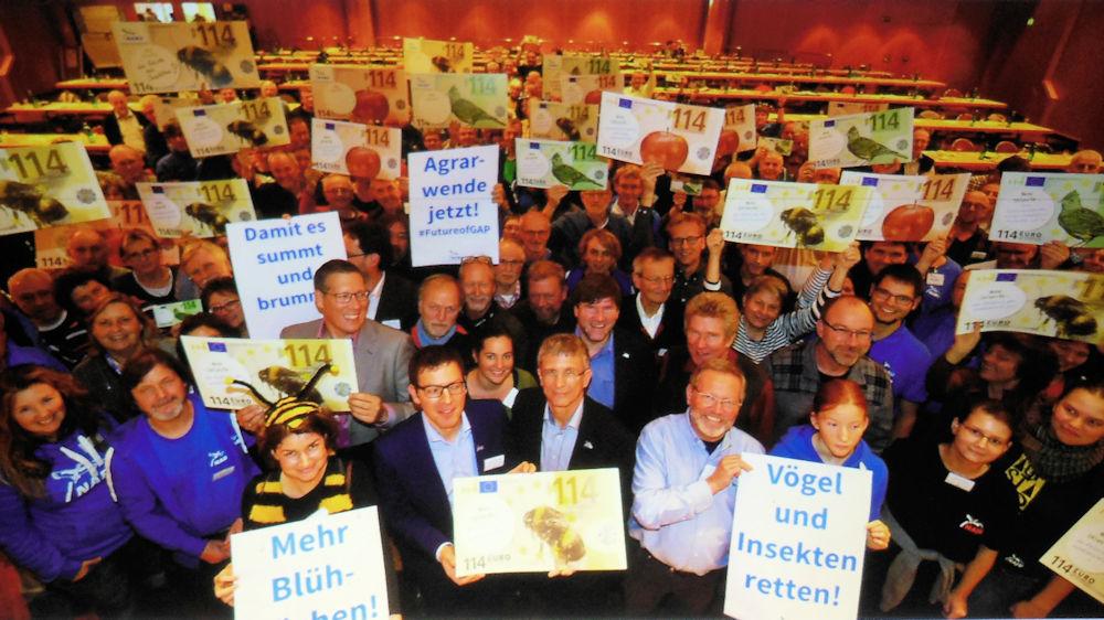 Die NABU Gruppen gemeinsam für die Agrarwende, Foto aus der Präsentation