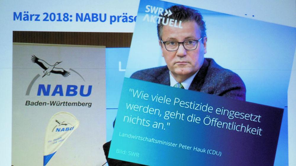 Peter Haug liegt hier leicht daneben, Foto aus der Präsentation