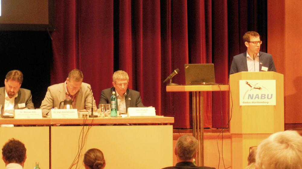 NABU BW Vorsitzender Johannes Enssle bei seiner Rede, Foto F. Handel