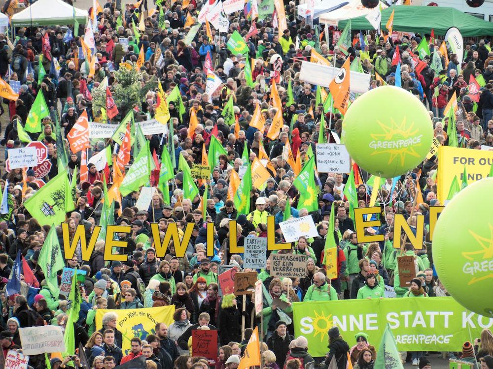 Klimaschutzer unter sich, Foto F. Handel