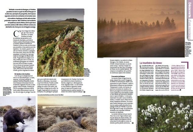 Publication d'un reportage sur les Monts d'Arrée avec Emmanuel Berthier dans le magazine Nature en France (juillet 2013)
