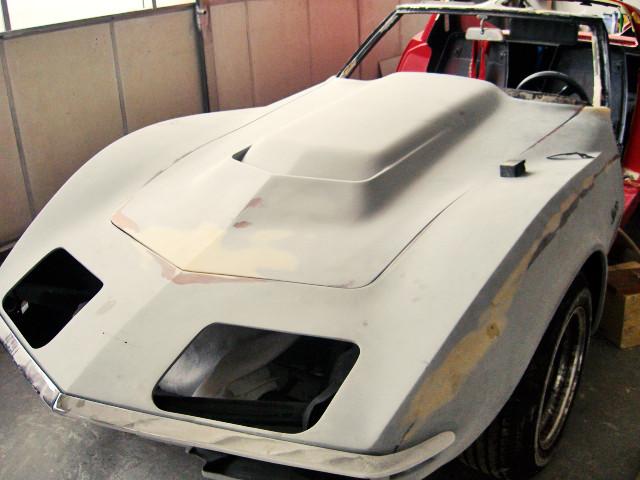 Corvette Teilrestaurierung, Karosseriearbeiten, Lackierung