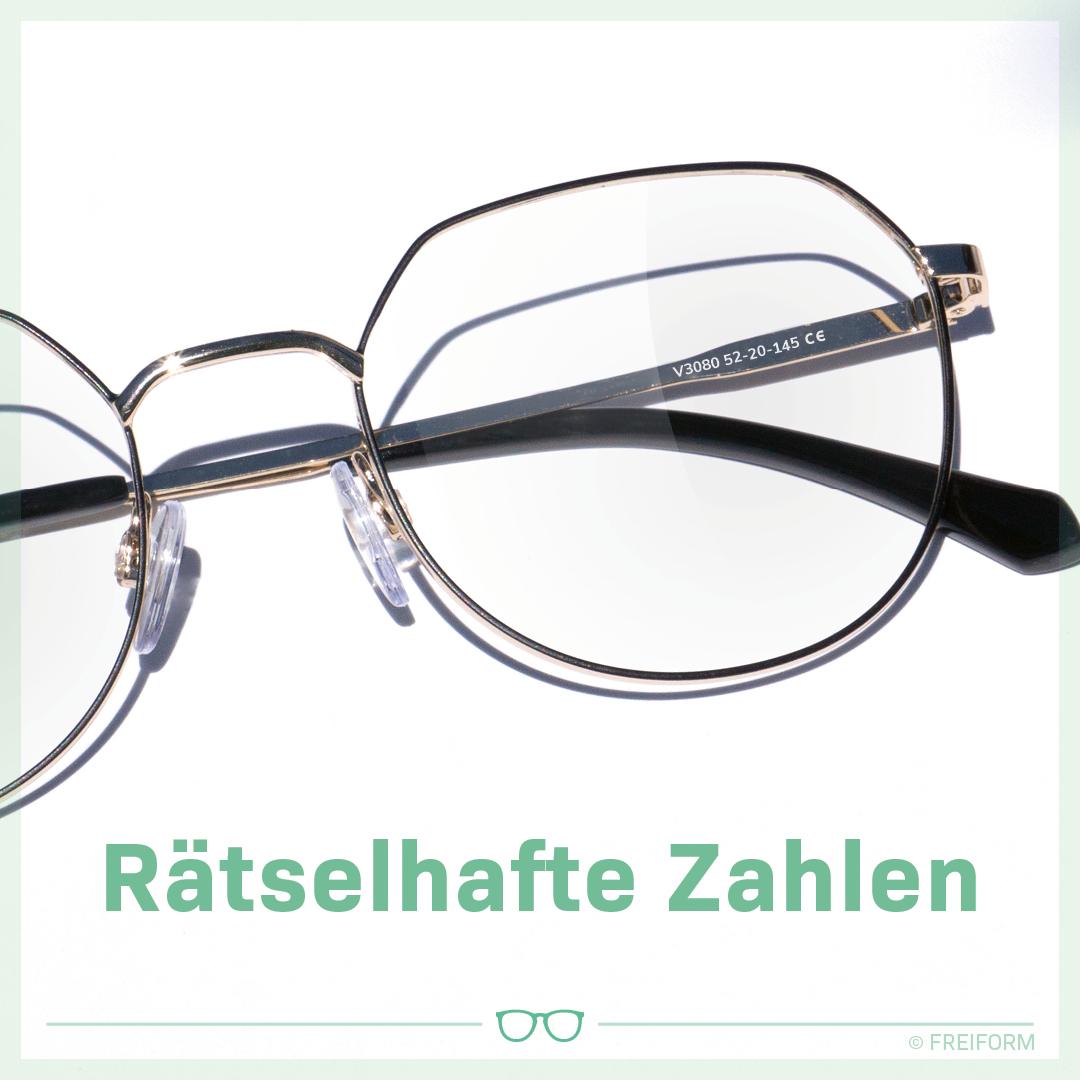 Zahlen in der Brille