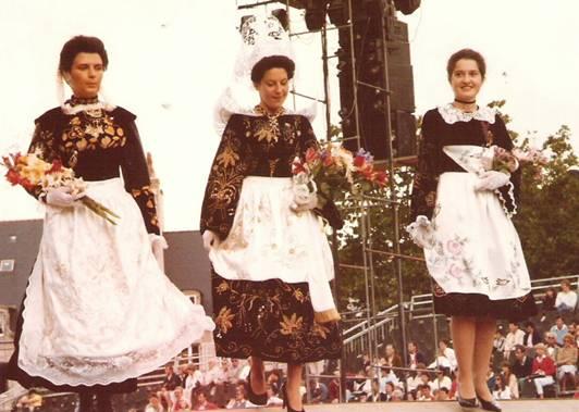 1984 - Françoise Bourgeon 2ème demoiselle d'honneur de la Reine de Cornouaille