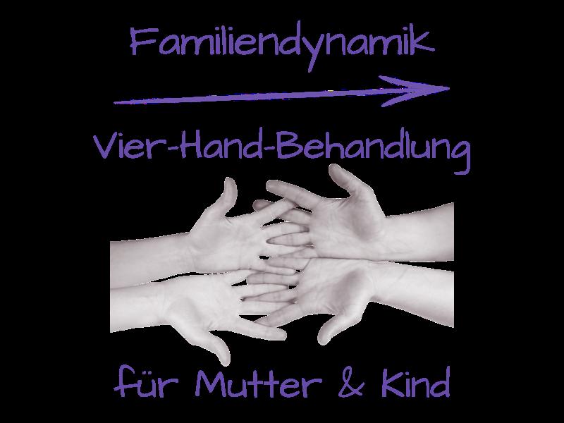Vier-Hand-Behandlung für Mutter und Kind