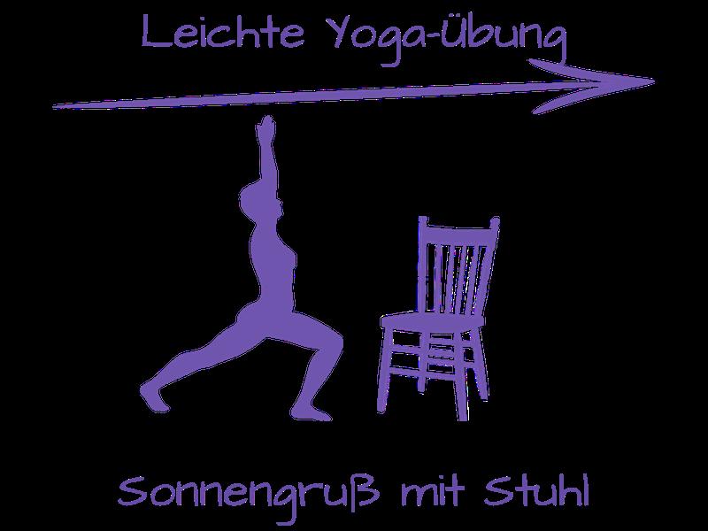 Eine kleine Yoga-Einheit mit Stuhl