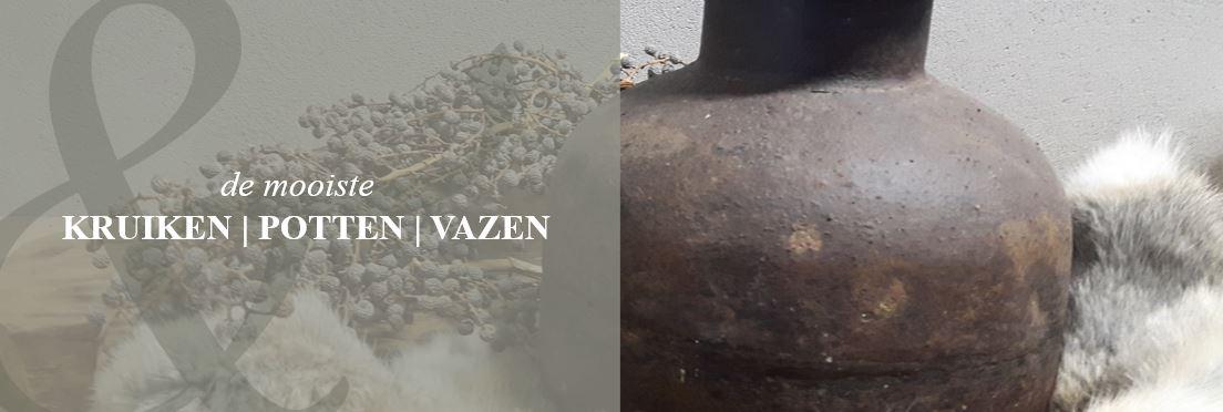 Kruiken potten vazen threels zo for Potten en vazen