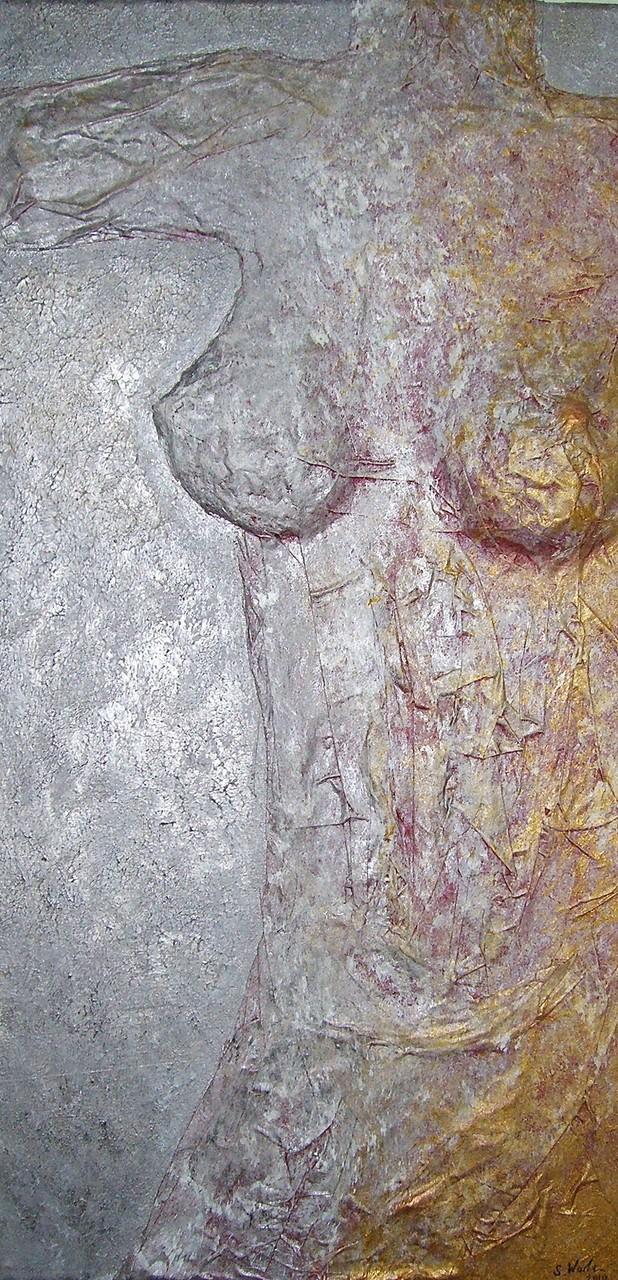 Acryl auf Leinwand, Relief