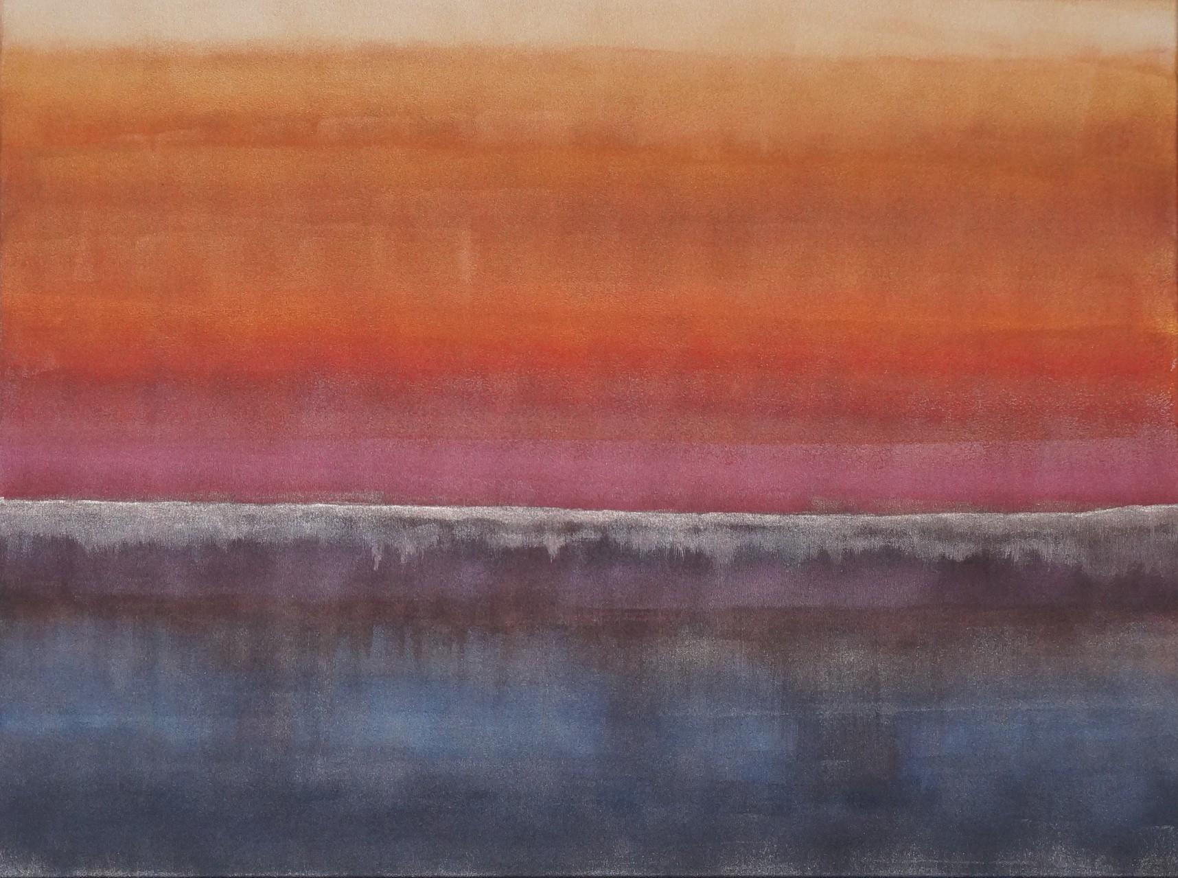 Acryl auf Leinwand, Farbrolle - 60x80