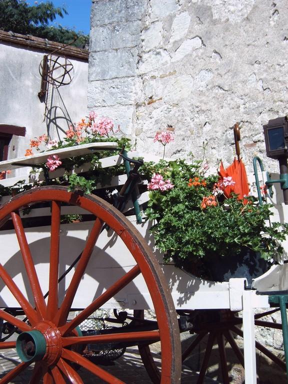 Charette fleurie Mennetou sur cher