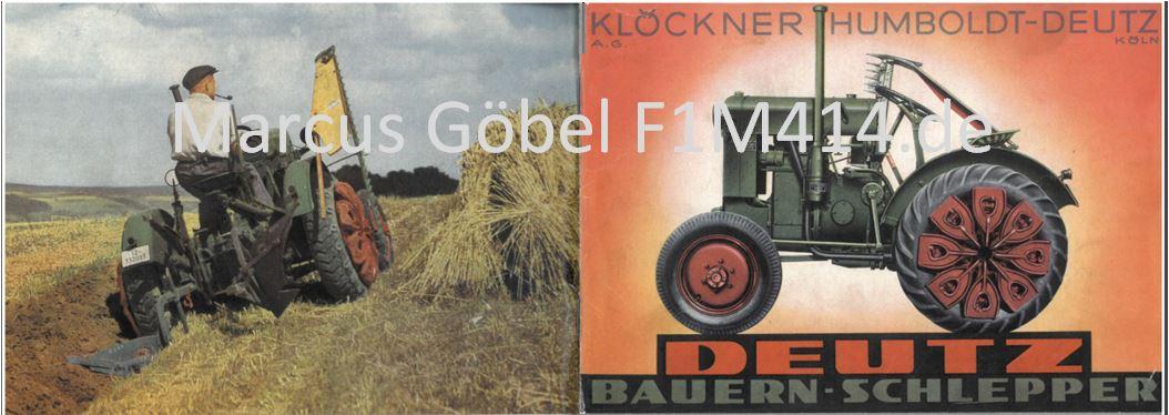 F1M414 Prospekt Bauernschlepper Elfer Deutz