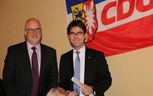 Bild:Mark Helfrich, MdB und Johann Hansen, 1. Vors. CDU Schenefeld
