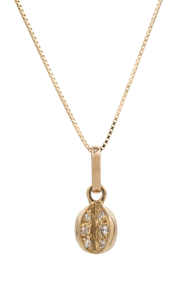 Pendente 18K oro giallo diamanti