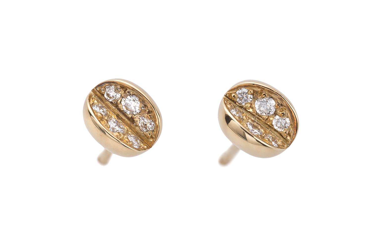 Orecchini 18K oro giallo diamanti