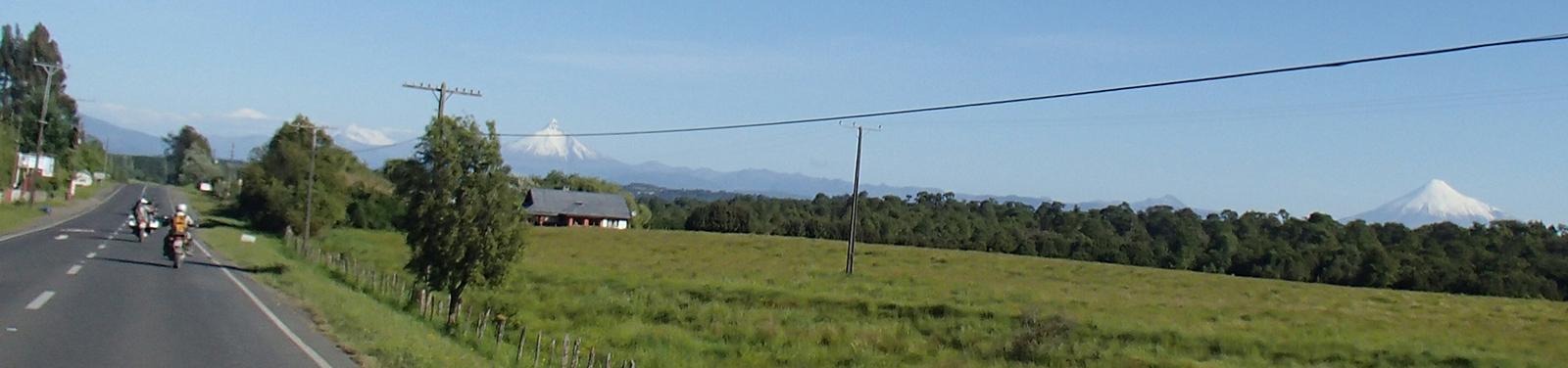 Vulkane Puntiagudo und Osorno, Chile