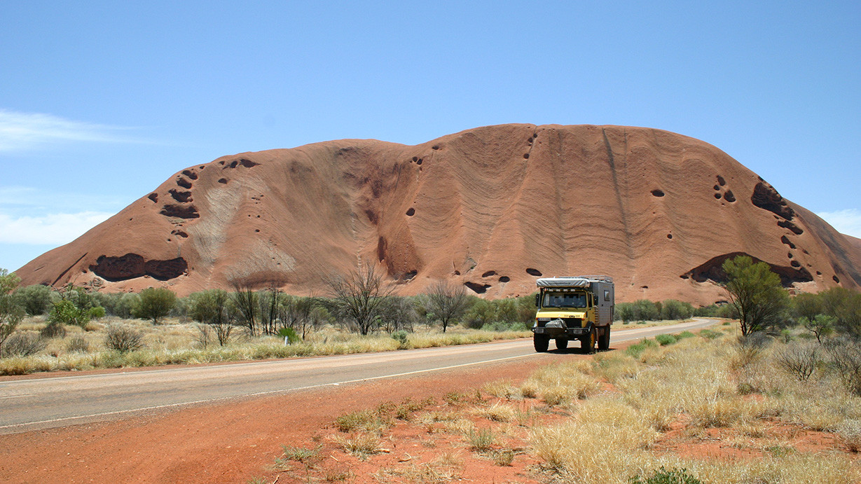 Am Uluru, Australien